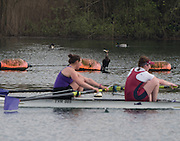 Caversham. Berkshire. UK<br /> Grandstand Seat on the buoy line,<br /> 2016 GBRowing U23 Trials at the GBRowing Training base near Reading, Berkshire.<br /> <br /> Monday  11/04/2016 <br /> <br /> [Mandatory Credit; Peter SPURRIER/Intersport-images]