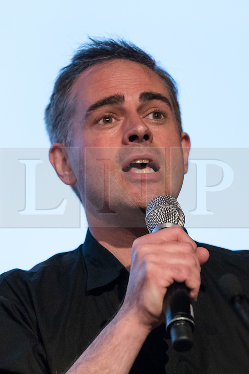 © Licensed to London News Pictures. 15/05/2017. LONDON, UK. JONATHAN BARTLEY, Green Party co-leader speaking at the Progressive Alliance launch in London. The Progressive Alliance is a cross political party group who are campaigning against the Tories and encouraging tactical voting in the general election.  Photo credit: Vickie Flores/LNP