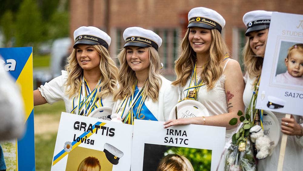 STUDENTBILDER 2020<br /> Bilder från studentfirande i Östersund  2020<br /> Foto:Per Danielsson/Projekt.P