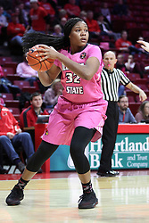 NORMAL, IL - February 10: Simone Goods during a college women's basketball Play4Kay game between the ISU Redbirds and the Indiana State Sycamores on February 10 2019 at Redbird Arena in Normal, IL. (Photo by Alan Look)