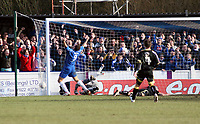 Photo: Mark Stephenson.<br /> Chasetown v Cardiff City. FA Cup Third Round. 05/01/2008.<br /> Chasetown go 1-0 up with a Cardiff own goal