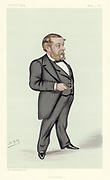 Astronomy'.  Richard Anthony Proctor (1837-1888), English astronomer, mathematician and popular science writer.  Founded 'Knowledge', a science periodical, in 1881, published first as a weekly then, from, 1885 as a monthly.  From 1873 he lectured successfully in America. Cartoon by 'Spy'  pseudonym of Leslie Ward (1851-1922)  British painter and caricaturist, from 'Vanity Fair'. (London, 3 March 1883).  Chromolithograph.