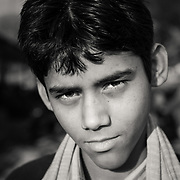 Portrait of Indan boy at a market in Jaipur
