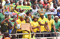SOUTH AFRICA: JOHANNESBURG: Bafana Bafana supporters come in large numbers to support their team as it plays against Nigeria for the Africa Cup of Nations (Afcon) at the FNB stadium in Gauteng.<br />Itumeleng English/ African News Agency(ANA)