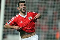 20120306: LISBON, PORTUGAL - Champions League 2011/2012 - 2st leg: SL Benfica vs Zenit FC.<br /> In picture: Benfica's midfielder Javi Garcia celebrating scoring Benfica second goal.<br /> PHOTO: Carlos Rodrigues/CITYFILES