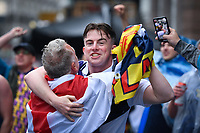 Football - 2021 UEFA European Championships - Finals - Group D - England vs Scotland - Wembley Stadium<br /> <br /> Scotland fans in party mood in Leicester Square.<br /> <br /> COLORSPORT/ASHLEY WESTERN