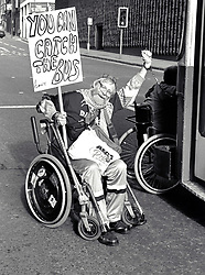 Disabled Action Network transport protest UK 1990s