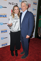 (L-R) Maria Bello and Mark Harmon at the TV Guide Magazine and CBS Celebrate Mark Harmon Cover & 15 Seasons Of NCIS held at the River Rock at Sportsmen's Lodge in Studio City, CA on Monday, November 6, 2017. (Photo By Sthanlee B. Mirador/Sipa USA)