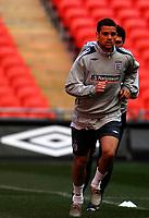 Photo: Alan Crowhurst.<br />England training session at Wembley Stadium. 21/03/2007. Luke Young.