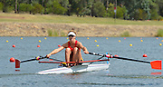 Sydney, Australia.   Interstate Women's Single Sculls South Australia's Olympia ALDERSEY moves away from the start pontoon at the Kings Queen's  Cup Interstae Regatta, icombined with the FISA World Cup I. and  Sydney International Rowing Regatta. Sydney International Rowing Centre, Penrith Lakes, NSW.   Saturday   23/03/2013 [Mandatory Credit. Peter Spurrier/Intersport Images]..