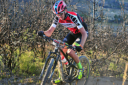 WELLINGTON SOUTH AFRICA - MARCH 23: Africa Jersey wearer Julian Jessop during stage five's 39km time trial on March 23, 2018 in Wellington, South Africa. Mountain bikers gather from around the world to compete in the 2018 ABSA Cape Epic, racing 8 days and 658km across the Western Cape with an accumulated 13 530m of climbing ascent, often referred to as the 'untamed race' the Cape Epic is said to be the toughest mountain bike event in the world. (Photo by Dino Lloyd)