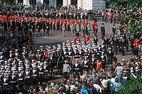 Lord Louis Mountbatten funeral, September 1979.<br /> London