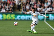 Martin Olsson of Swansea city in action.Premier league match, Swansea city v Watford at the Liberty Stadium in Swansea, South Wales on Saturday 23rd September 2017.<br /> pic by  Andrew Orchard, Andrew Orchard sports photography.