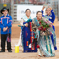 Ashley Claw, the former Miss Gallup Ceremonial Queen crowns Autumn Pilcher the new Miss Gallup Inter-tribal Ceremonial Queen at Red Rock Park Friday evening.