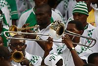 Photo: Steve Bond/Richard Lane Photography.<br />Ghana v Nigeria. Africa Cup of Nations. 03/02/2008. Nigerian trombonist