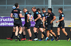 Elvis Taione of Exeter Braves scores his sides second try - Mandatory by-line: Nizaam Jones/JMP - 22/04/2019 - RUGBY - Sandy Park Stadium - Exeter, England - Exeter Braves v Saracens Storm - Premiership Rugby Shield
