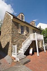 Washington DC; USA: The Georgetown area, known for its shopping and historic brick homes.  The oldest house in Washington DC, known as the Old Stone House..Photo copyright Lee Foster Photo # 20-washdc79933
