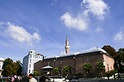 Minaret of the mosque in Plovdiv, Bulgaria