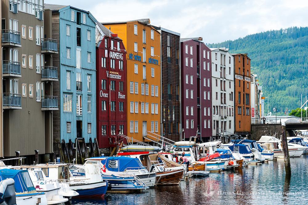 Norway, Sør-Trøndelag, Trondheim. Warehouses.