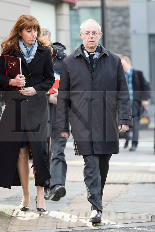 © Licensed to London News Pictures. 21/03/2018. London, UK. JUSTIN WELBY, the Archbishop of Canterbury arrives to give evidence at the Independent Inquiry into Child Sexual Abuse. The Anglican Church investigation will examine the nature and extent of, and institutional responses to, child sexual abuse within the Church of England, the Church in Wales and other Anglican churches operating in England and Wales. Photo credit: Vickie Flores/LNP