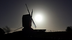 ©Licenced to London News Pictures  10/01/2014 The windmill in Rolvenden in Kent early on the mooring of 10th January 2014. Photo Credit Presspics/LNP