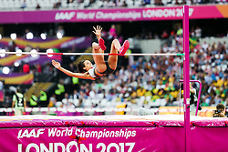 London, August 12 2017 . Marie-Laurence Jungfleisch, Germany, in the women's high jump final on day nine of the IAAF London 2017 world Championships at the London Stadium. © Paul Davey.