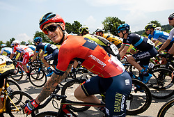 Grega Bole (SLO) of Bahrain - Merida during 1st Stage of 26th Tour of Slovenia 2019 cycling race between Ljubljana and Rogaska Slatina (171 km), on June 19, 2019 in  Slovenia. Photo by Vid Ponikvar / Sportida