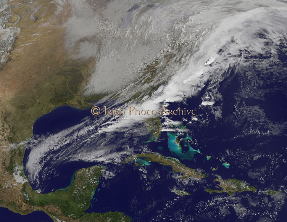 Sargasso Sea and Gulf of Mexico  photographed from a satellite orbiting the earth