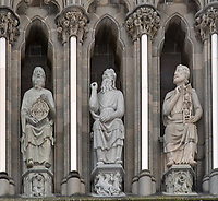 Nidaros Cathedral Sculptures. Image taken with a Nikon D2xs camera and 85 mm f/1.4 lens