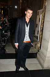 JAMIE DORNAN at the British Fashion Awards 2006 sponsored by Swarovski held at the V&A Museum, Cromwell Road, London SW7 on 2nd November 2006.<br /><br />NON EXCLUSIVE - WORLD RIGHTS