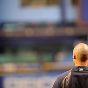New York Yankees shortstop Derek Jeter (2) stands alone on the field prior to a major league baseball game between the New York Yankees and the Tampa Bay Rays at Tropicana Field on Thursday, Sept. 17, 2014 in St. Petersburg, Florida. (AP Photo/Alex Menendez)