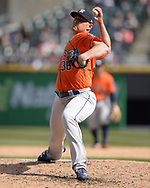 CHICAGO - APRIL 22:  Will Harris #36 of the Houston Astros pitches against the Chicago White Sox on April 22, 2018 at Guaranteed Rate Field in Chicago, Illinois.  (Photo by Ron Vesely)   Subject:   Will Harris
