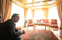 Kabul, Afghanistan -- Elections in Afghanistan -- Afghan Presidential candidate Dr. Abdullah Abdullah in a sitting room at his home in Kabul talking of what he is calling election fraud and vote fixing conducted on behalf of Afghanistan President Hamid Karzai. Abdullah pointed out many voting irregularities most notable in Kandahar, President Karzai's home region.  Photo by Jack Gruber, USA TODAY