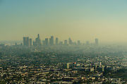 Los Angeles City Covered in Smog