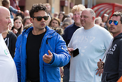 © Licensed to London News Pictures . 02/08/2015 . Droylsden Football Club , Manchester , UK . RYAN THOMAS . Celebrity football match in aid of Once Upon a Smile and Debra , featuring teams of soap stars . Photo credit : Joel Goodman/LNP