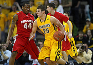 January 27, 2010: Iowa guard Eric May (25) tries around Ohio State guard William Buford (44) during the first half of their game at Carver-Hawkeye Arena in Iowa City, Iowa on January 27, 2010. Ohio State defeated Iowa 65-57.