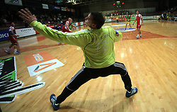 Goalkeeper of Slovan Jure Vran at handball game RD Slovan vs RD Merkur  in 7th round of MIK First league, on October 24, 2008 in Ljubljana, Slovenia. (Photo by Vid Ponikvar / Sportal Images)