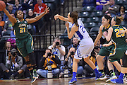 April 4, 2016; Indianapolis, Ind.; Keiahnna Engel steals a pass in the NCAA Division II Women's Basketball National Championship game at Bankers Life Fieldhouse between UAA and Lubbock Christian. The Seawolves lost to the Lady Chaps 78-73.