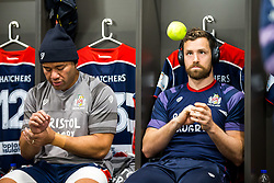 Luke Morahan of Bristol Rugby warms up with a tennis ball in the dressing room - Rogan/JMP - 22/12/2017 - RUGBY UNION - Ashton Gate Stadium - Bristol, England - Bristol Rugby v Cornish Pirates - Greene King IPA Championship.