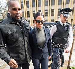 ©  London News Pictures. 04/04/2016. London, UK. Singer TULISA CONTOSTAVLOS arrives at Highbury Corner Magistrates court in London where she is due to face charges of drink driving and dangerous driving. The former X Factor judge was arrested on September 10 near Southgate tube station in north London when her Ferrari was involved in a collision with an elderly couple's Saab. Photo credit: Ben Cawthra/LNP