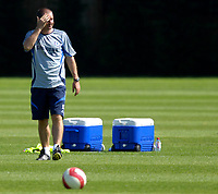 Photo: Daniel Hambury.<br />Chelsea Training Session. The Barclays Premiership. 24/07/2006.<br />Chelsea assistant manager Steve Clarke during training.