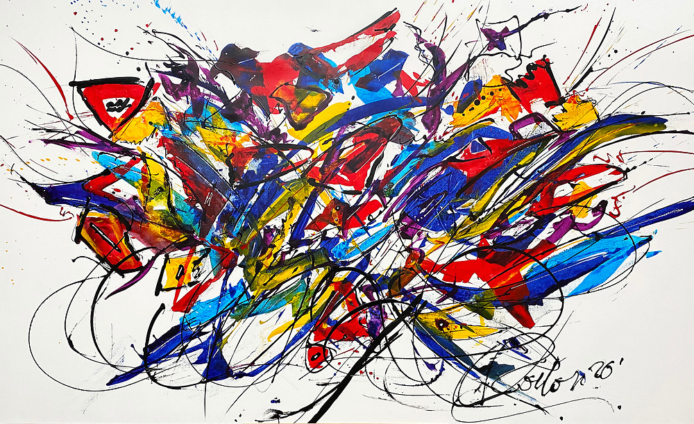"""""""Birds of a Feather' No. 20 in the Revival Series . 48"""" x 82"""" . Acrylic on Canvas . 2020"""