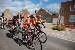 Romy Kasper and Ellen van Dijk control the pace as the race heads toward Kemmelberg for a second time - Women's Gent Wevelgem 2016, a 115km UCI Women's WorldTour road race from Ieper to Wevelgem, on March 27th, 2016 in Flanders, Belgium.