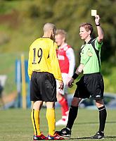 Fotball <br /> La Manga<br /> 16.03.2010<br /> Moss FK  v Bryne FK  1-3<br /> Foto: Dagfinn Limoseth, Digitalsport<br /> Mahmoud El Haj  , Moss fikk gult kort