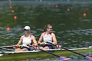 Lucerne. Switzerland,  USA2 Adrienne MARTELLI (b) , Megan KALMOE (s)  Rotsee Lake.  15:26:31  Saturday  13/07/2013  [Mandatory Credit, Peter Spurrier/ Intersport Images]