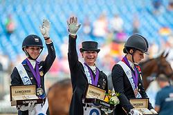 GRAVES Laura (USA), WERTH Isabell (GER), DUJARDIN Charlotte (GBR)<br /> Tryon - FEI World Equestrian Games™ 2018<br /> Grand Prix Special Einzelentscheidung<br /> 14. September 2018<br /> © www.sportfotos-lafrentz.de/Stefan Lafrentz