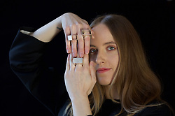 Akvile Su, a Scotland-based Lithuanian maker of minimalist, gender neutral jewellery was among those showcasing their products at a preview of their work at The Incorporation of Goldsmiths in Edinburgh ahead of the Elements festival later this year. Pic. Terry Murden @edinburghelitemedia
