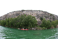 ANGLERS CANOEING IN DEVILS RIVER TEXAS