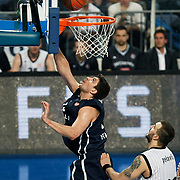 Anadolu Efes's Estaban BATISTA (L) during their Turkish Airlines Euroleague Basketball Group C Game 6 match Anadolu Efes between Partizan at Sinan Erdem Arena in Istanbul, Turkey, Wednesday, November 23, 2011. Photo by TURKPIX