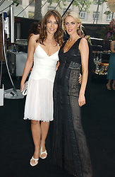 Left to right, LIZ HURLEY and DONNA AIR  at the 2006 Glamour Women of the Year Awards 2006 held in Berkeley Square Gardens, London W1 on 6th June 2006.<br />